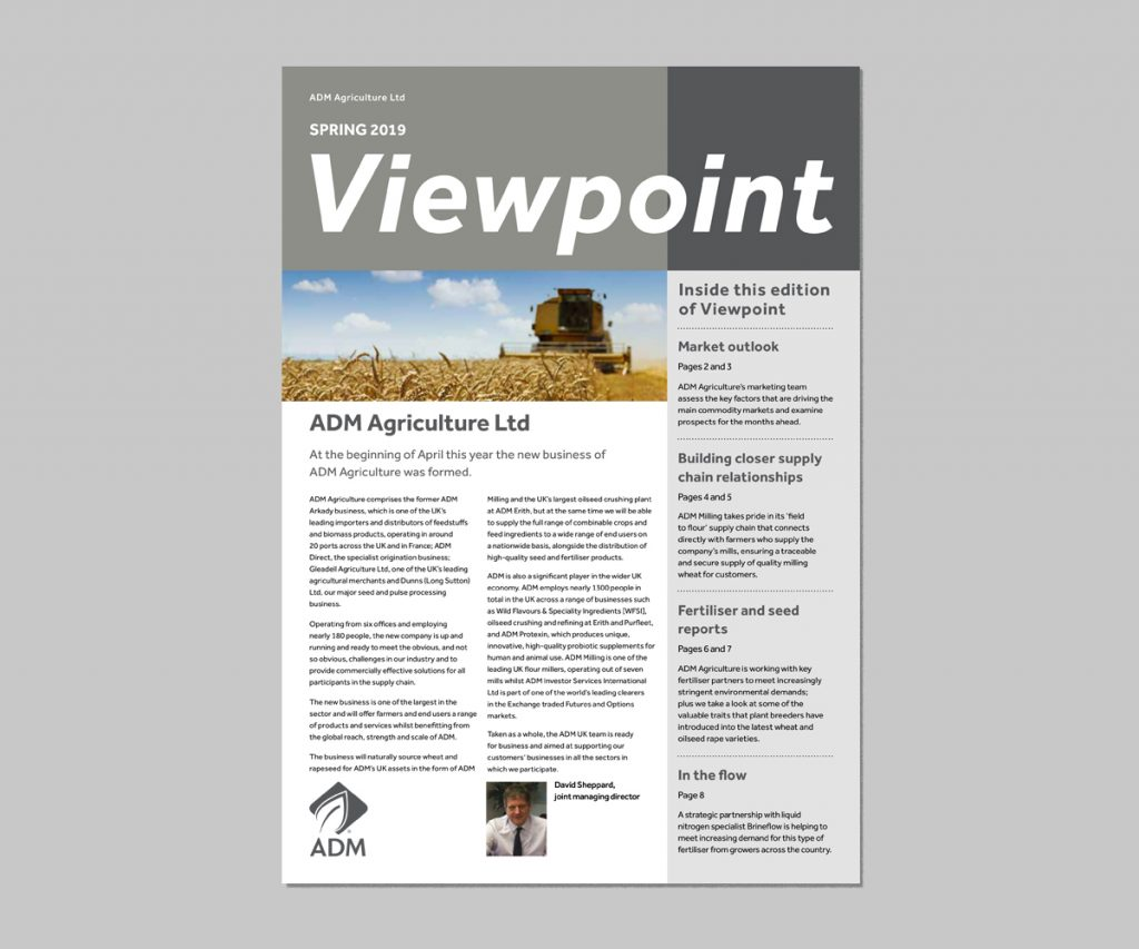 ADM Agriculture Ltd  - Spring 2019 Edition of Viewpoint is