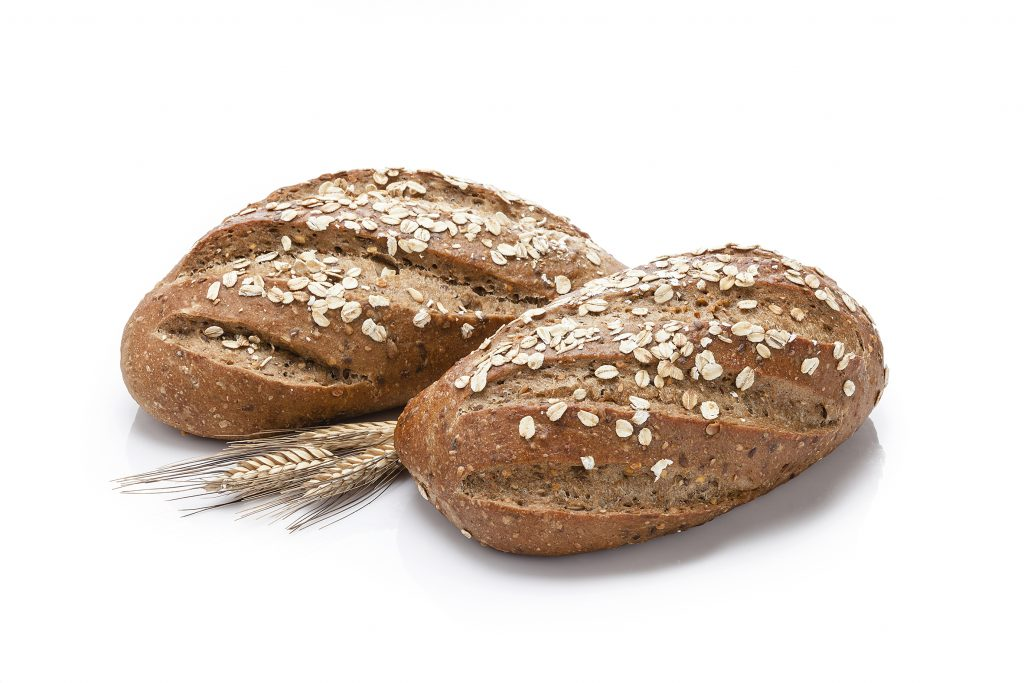 Oats bread shot on white background